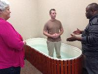 Preparing for an indoor baptism